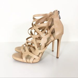 Jessica Simpson Nude/Cream Criss Cross Heels
